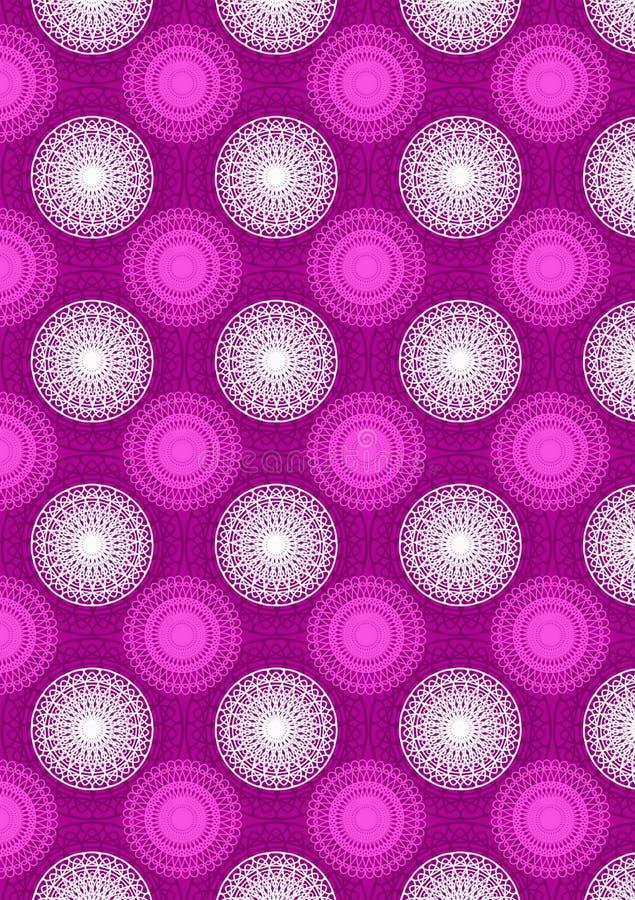het patroon van het roze van de cirkelmeetkunde royalty-vrije stock afbeelding