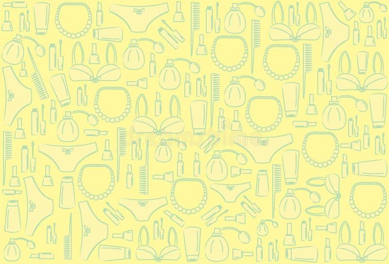 Het patroon van schoonheidsmiddelen vector illustratie