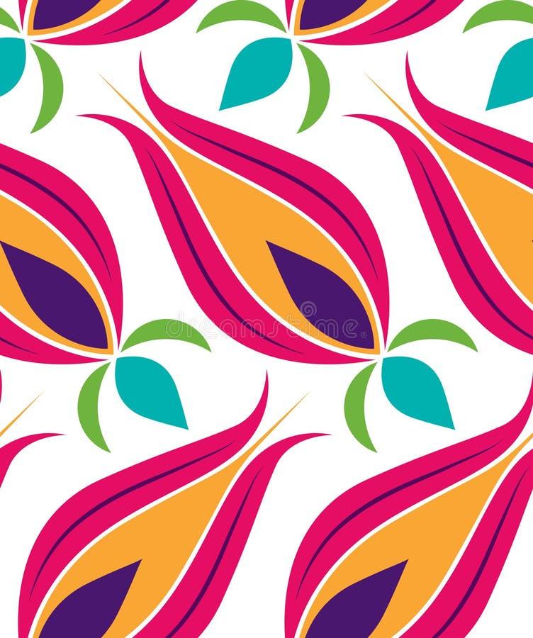 Het Patroon van Seamsless van de Tulp van de ottomane stock illustratie