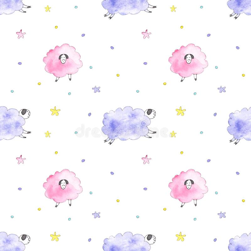 Het patroon van slaapschapen stock illustratie