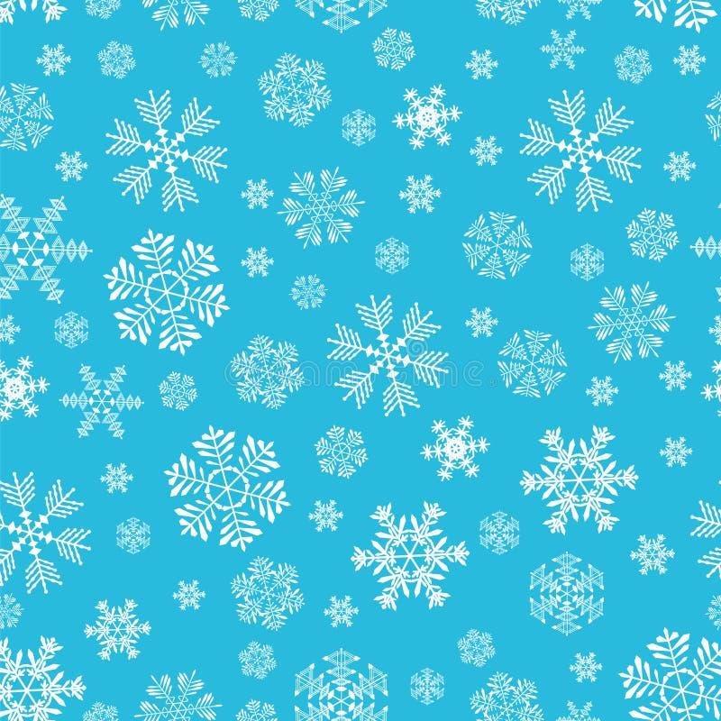 Het patroon van sneeuwvlokken royalty-vrije stock fotografie