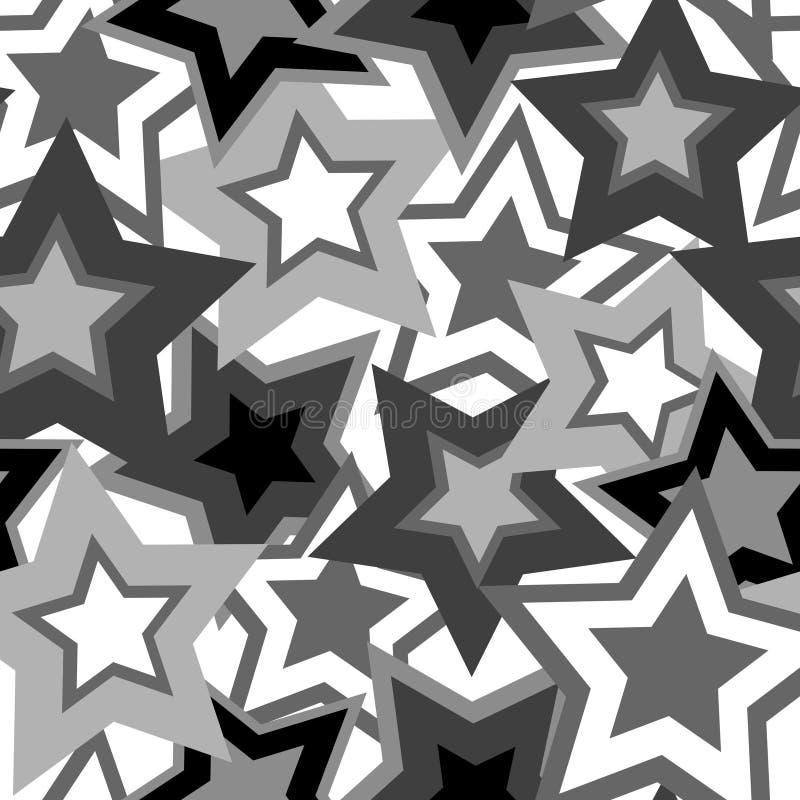 Het patroon van sterren stock illustratie