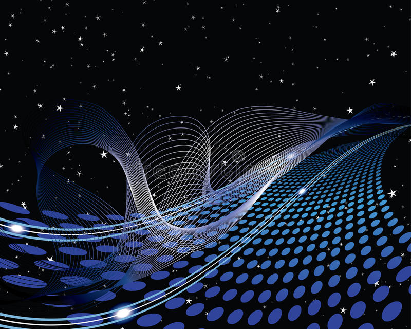Het patroon van Techno stock illustratie