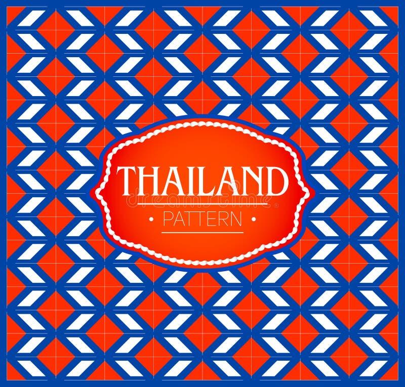 Het patroon van Thailand, Achtergrondtextuur en embleem met de kleuren van de vlag van Thailand stock illustratie