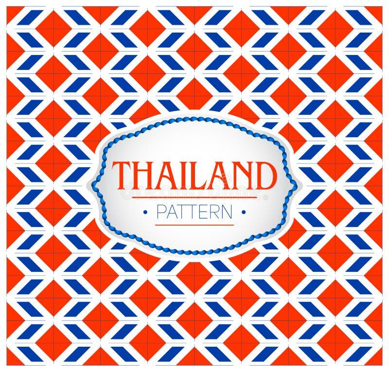Het patroon van Thailand, Achtergrondtextuur en embleem met de kleuren van de vlag van Thailand vector illustratie