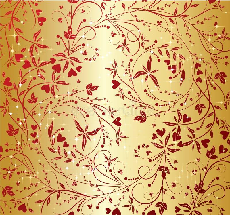 Het patroon van valentijnskaarten stock illustratie