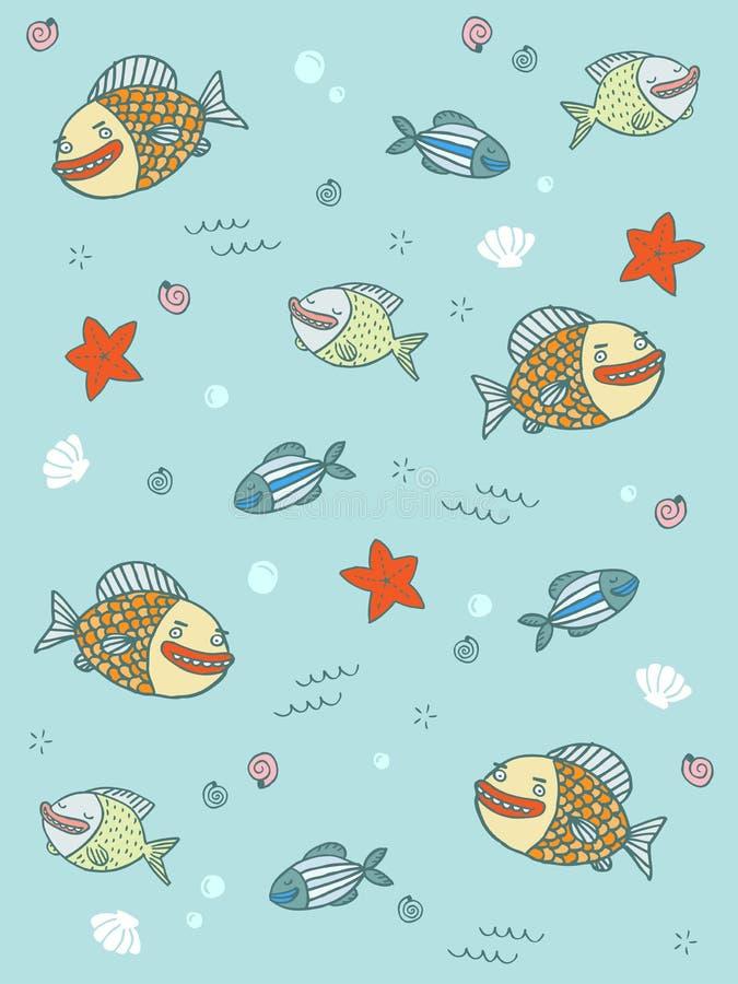 Download Het patroon van vissen vector illustratie. Illustratie bestaande uit patroon - 29507432