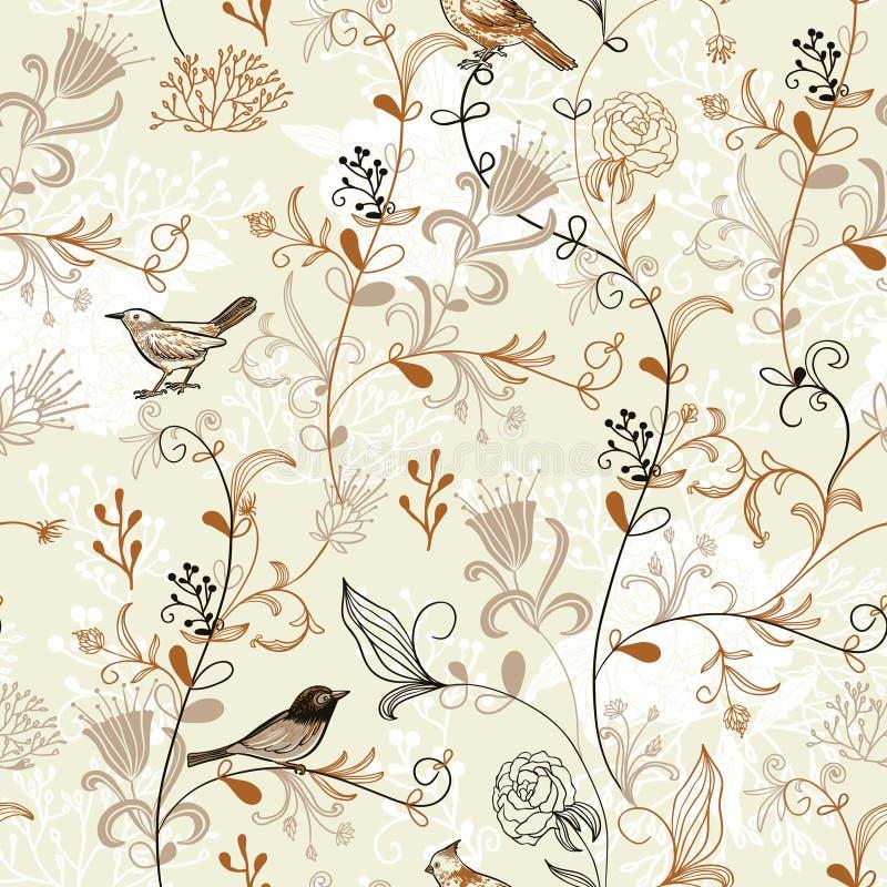 Het patroon van vogels royalty-vrije illustratie