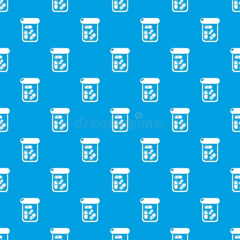 Het patroon vector naadloos blauw van de flessendrug royalty-vrije illustratie