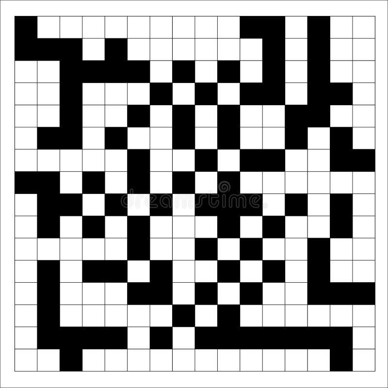 Het Patroon Vectorillustratie van het kruiswoordraadselpixel royalty-vrije illustratie