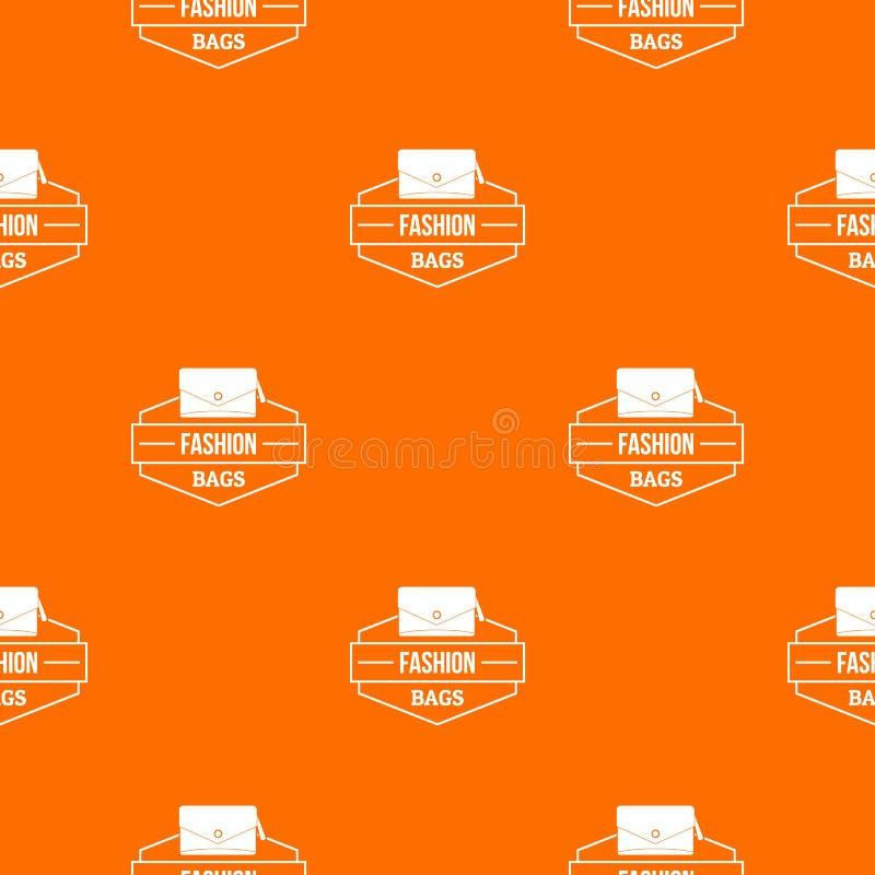 Het patroon vectorsinaasappel van de manierhandtas vector illustratie