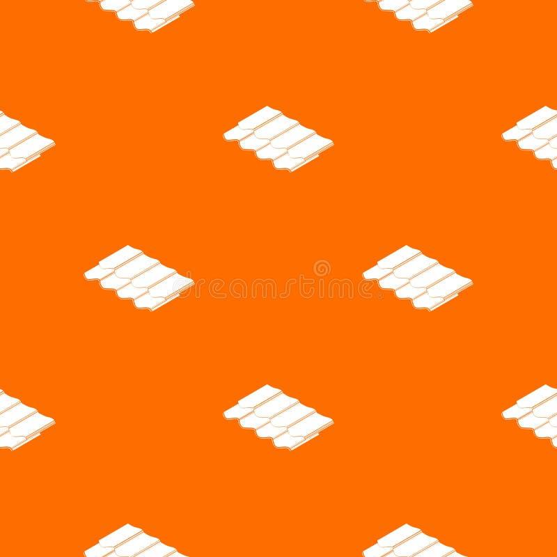 Het patroon vectorsinaasappel van de metaaltegel stock illustratie