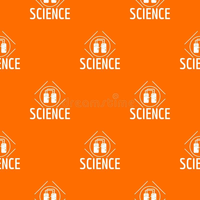 Het patroon vectorsinaasappel van het experimentcentrum stock illustratie