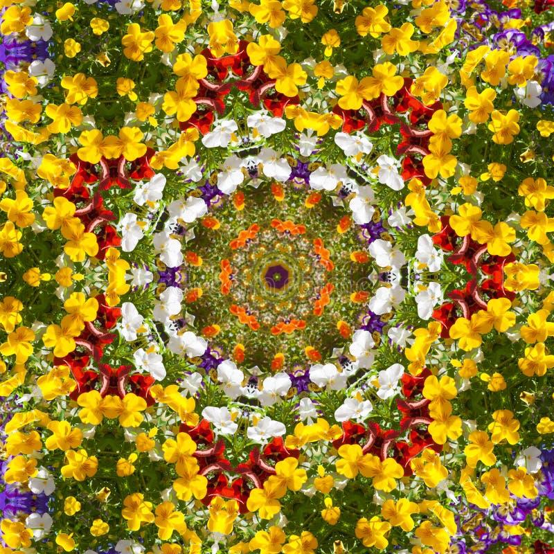 Het patroon violette caleidoscoop van de bloemkleur vector illustratie