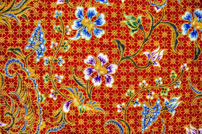 Het patroonachtergrond van batiksarongen in Thailand, traditionele batik royalty-vrije stock afbeeldingen
