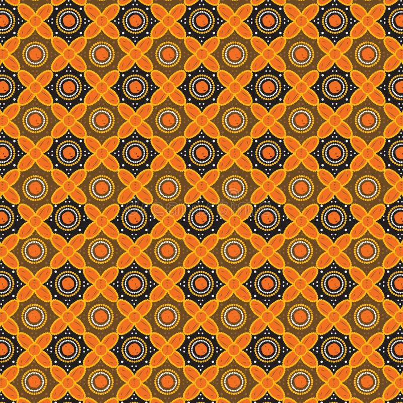 Het patroonachtergrond van de batik vector illustratie