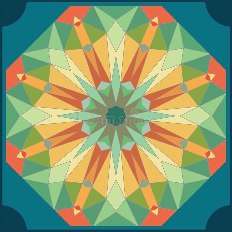 Het patroonachtergrond van de caleidoscoop kleurrijke naadloze tegel vector illustratie