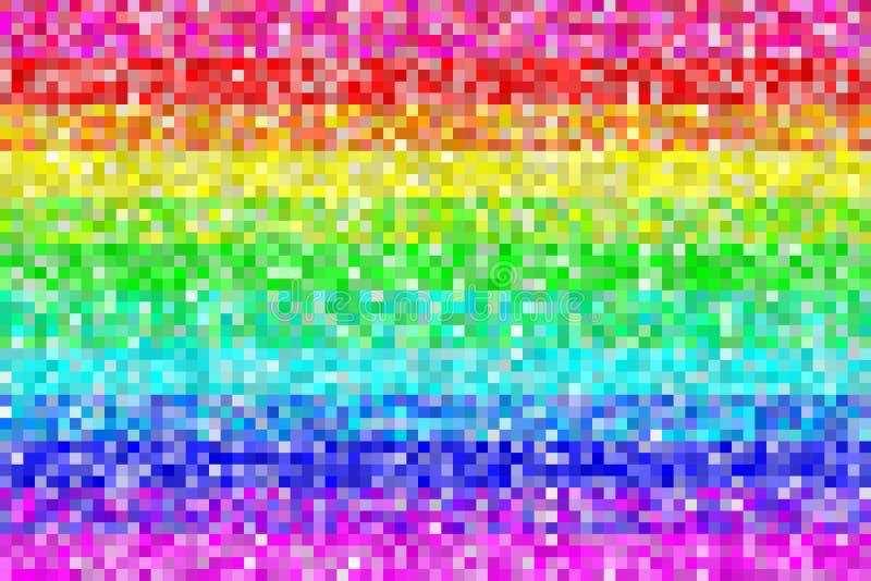 Het Patroonachtergrond van de pixelregenboog EPS8 vector royalty-vrije illustratie