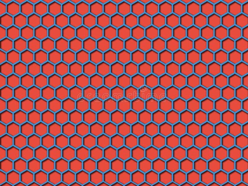 Het Patroonachtergrond van de rode kleurenhoningraat royalty-vrije illustratie