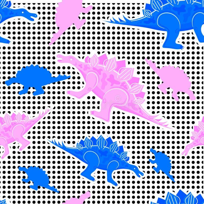 Het patroondinosaurussen van Memphis stock illustratie