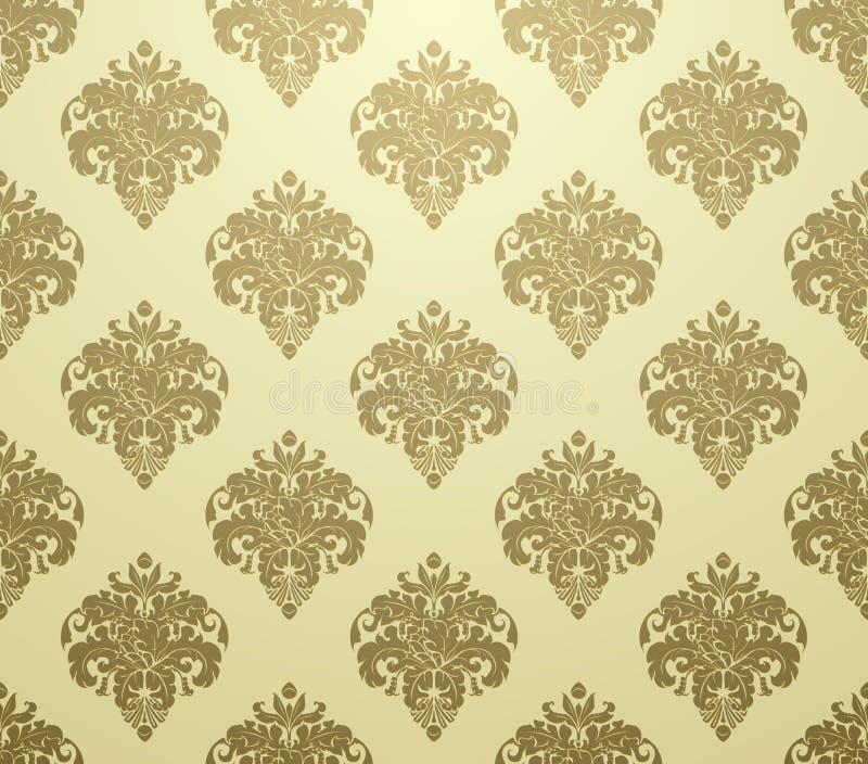 Het patroonluxe van het behang stock illustratie