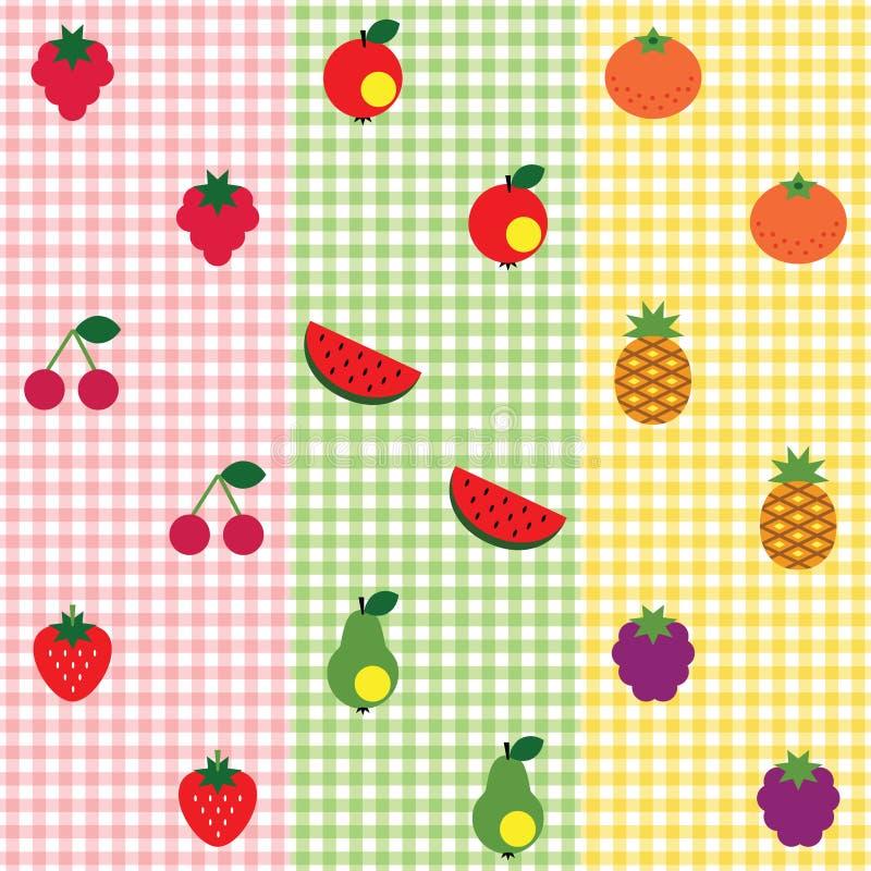Het patroonreeks van het fruit stock illustratie