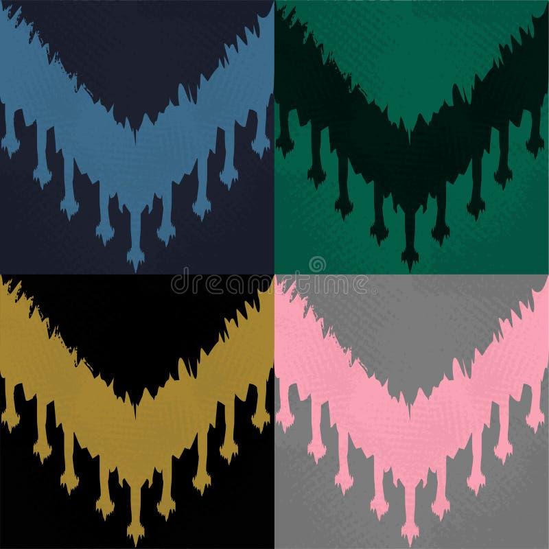 Het patroonreeks van Ikat vector illustratie
