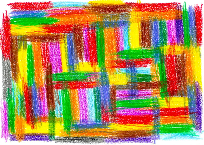 Het patroontekening van het kind royalty-vrije illustratie