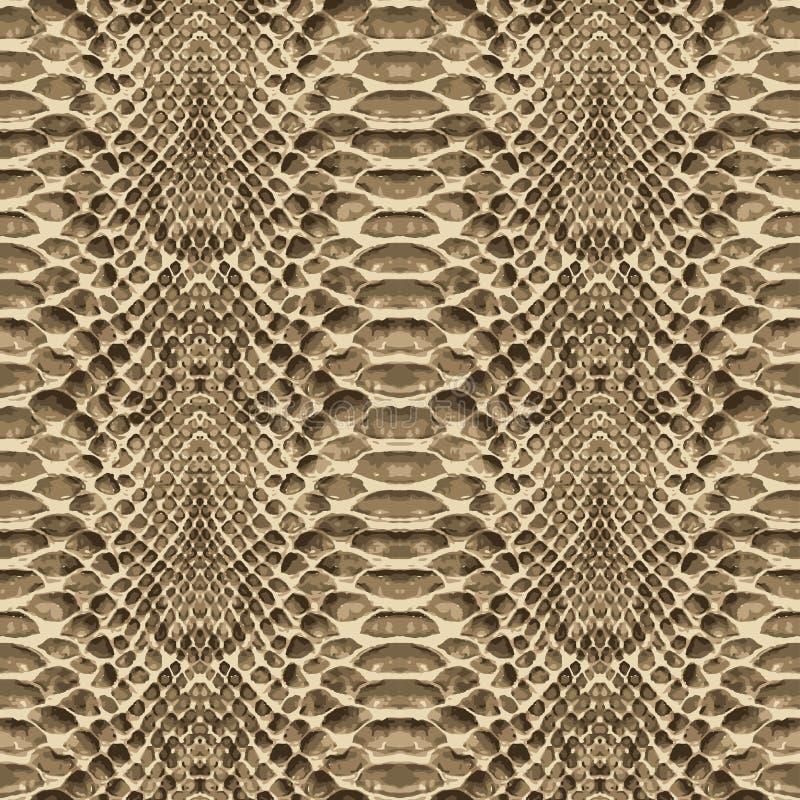Het patroontextuur van de slanghuid naadloos herhalen Vector Textuurslang Modieuze druk royalty-vrije illustratie