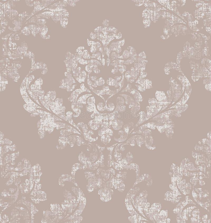 Het patroonvector van de rococo'stextuur Het bloemen oude effect van de ornamentdecoratie Victoriaans gegraveerd retro ontwerp Ui royalty-vrije illustratie