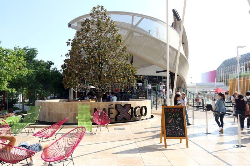 Het paviljoen Milaan, Milaan Expo 2015 van Mexico stock foto's