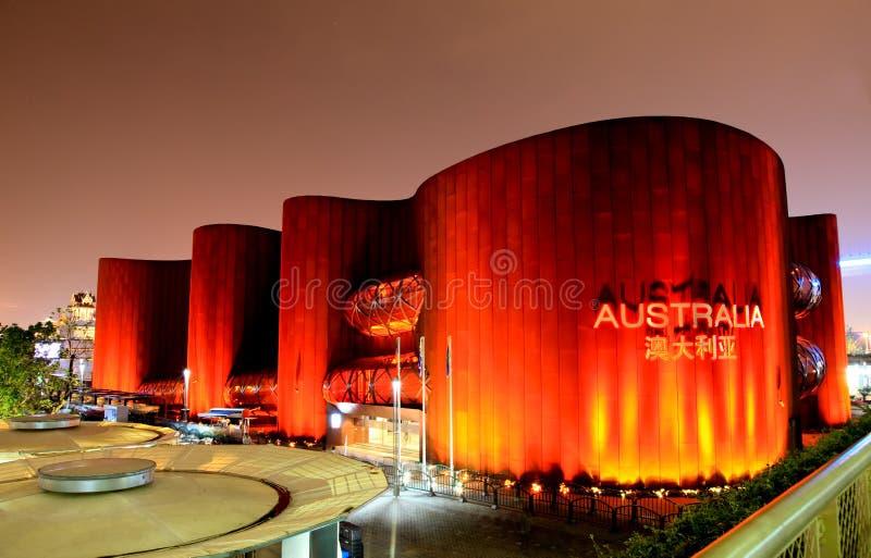 Het paviljoen van Australië bij Wereld Expo in Shanghai stock foto