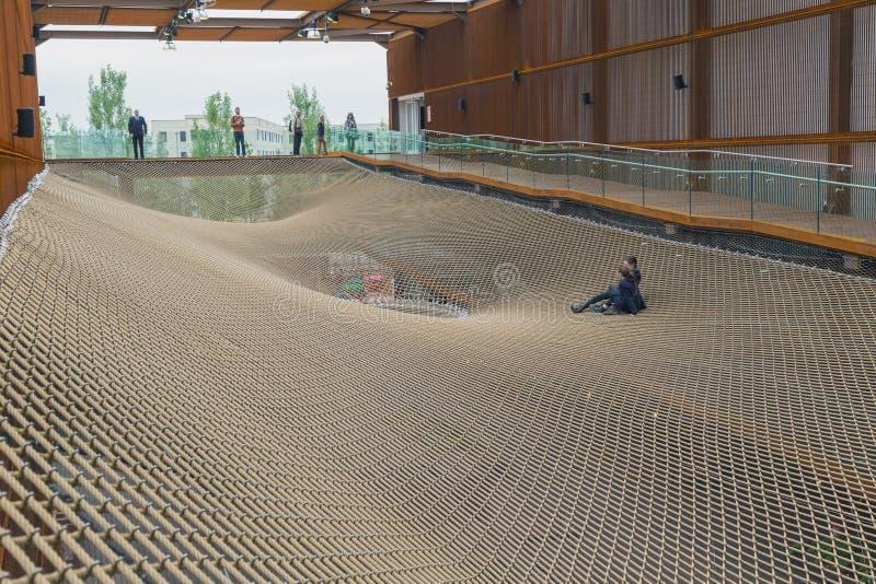Het paviljoen van Brazilië in Expo 2015 in Milaan, Italië royalty-vrije stock foto's