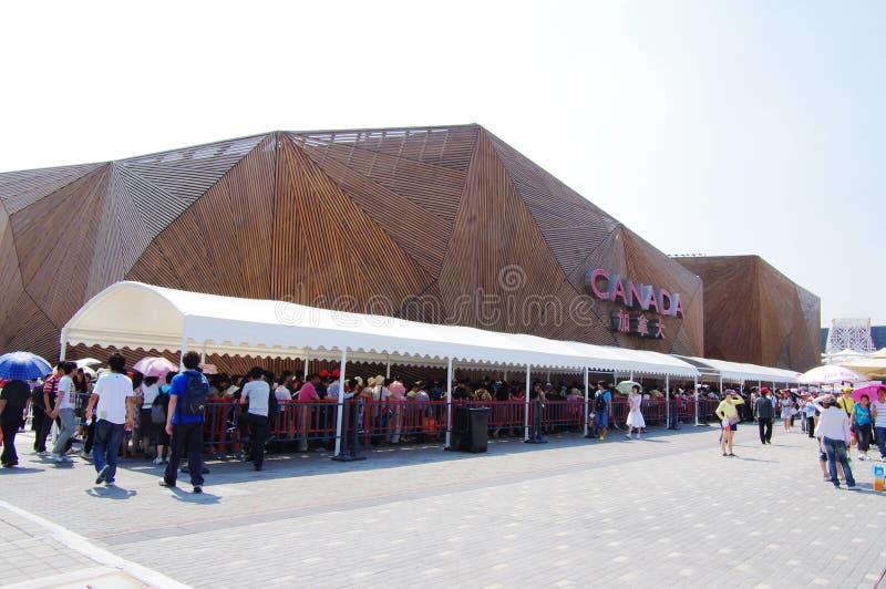 Het Paviljoen van Canada in Expo2010 Shanghai China royalty-vrije stock foto's