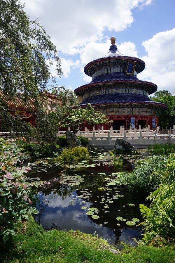 Het Paviljoen van China in Epcot stock foto