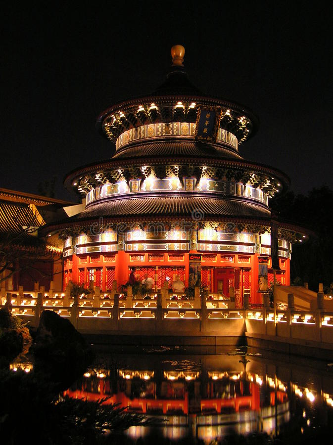 Het paviljoen van China in Epcot in Walt Disney World stock foto's