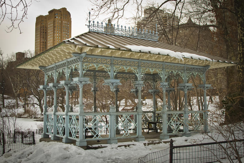 Het Paviljoen van dames in Central Park, New York stock afbeelding