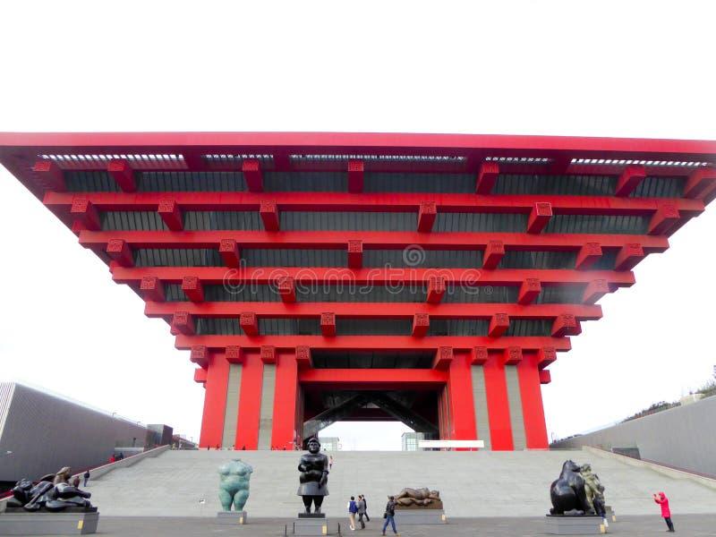 Het Paviljoen van de Wereldexpo China van Shanghai stock foto's