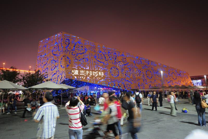 Het Paviljoen van de Wereldexpo Polen van Shanghai van China 2010 stock foto