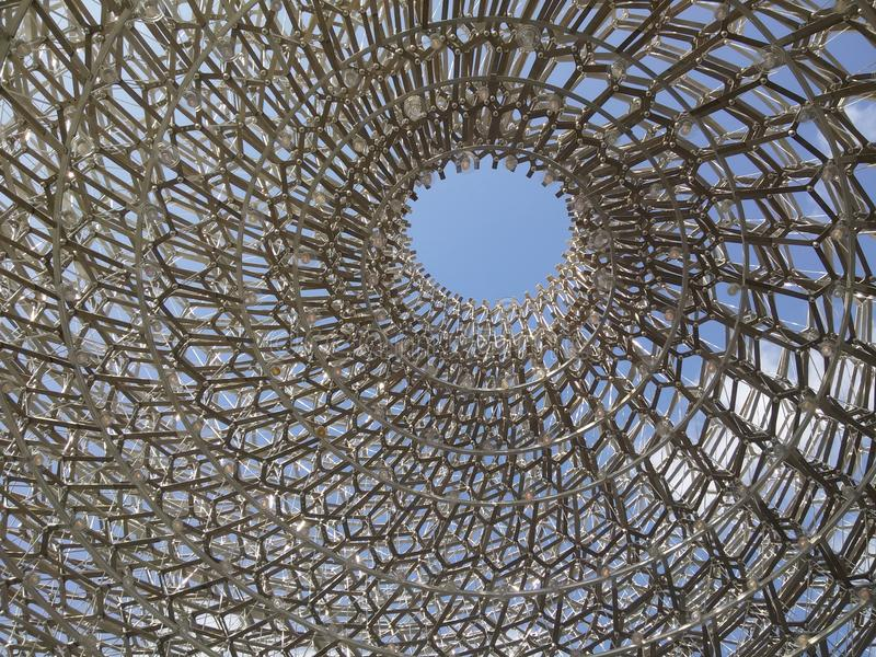 Het paviljoen van Expo het UK van de binnenkant royalty-vrije stock foto's