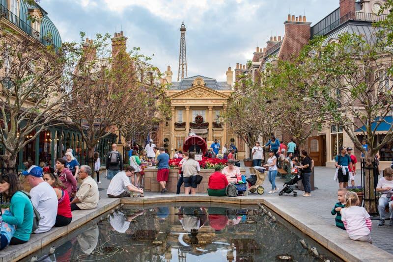 Het Paviljoen van Frankrijk in Epcot royalty-vrije stock fotografie