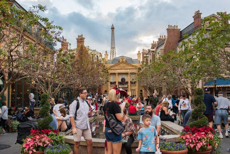 Het Paviljoen van Frankrijk in Epcot royalty-vrije stock afbeeldingen