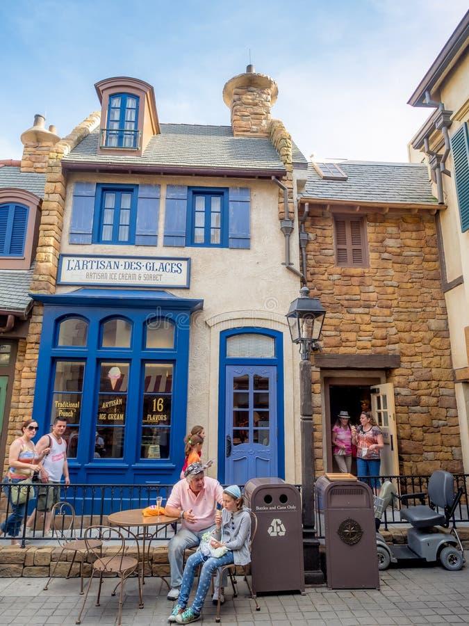Het paviljoen van Frankrijk, Wereldshowcase, Epcot stock afbeelding