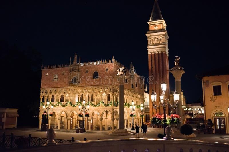 Het Paviljoen van Italië in Epcot stock afbeeldingen