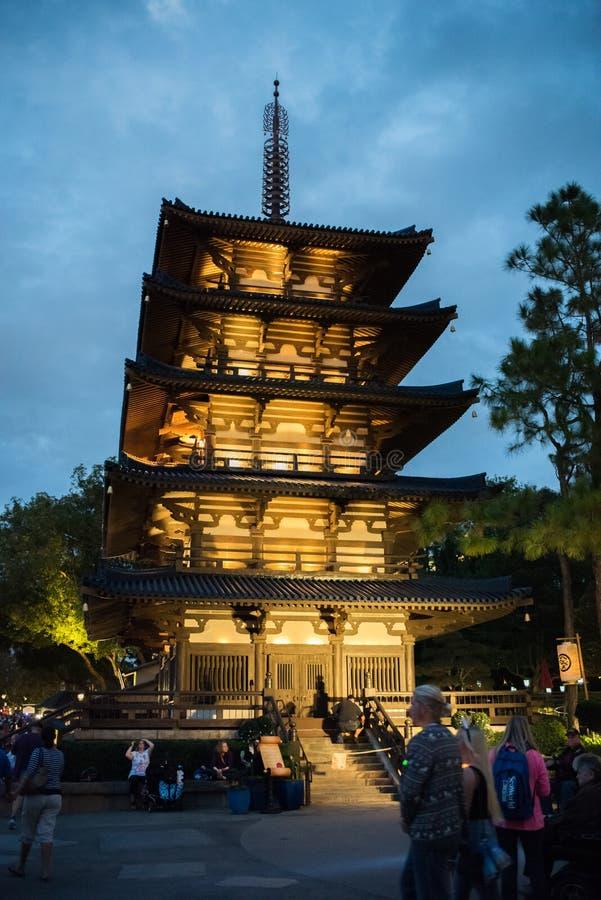 Het Paviljoen van Japan in Epcot stock foto