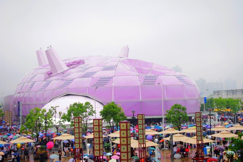 Het Paviljoen van Japan in Expo2010 Shanghai China royalty-vrije stock fotografie