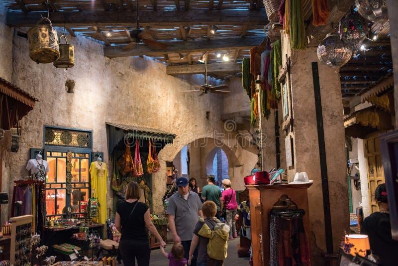 Het Paviljoen van Marokko in Epcot stock fotografie