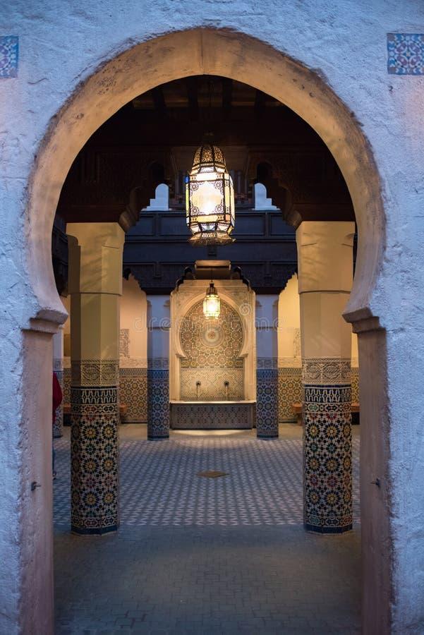 Het Paviljoen van Marokko in Epcot royalty-vrije stock fotografie