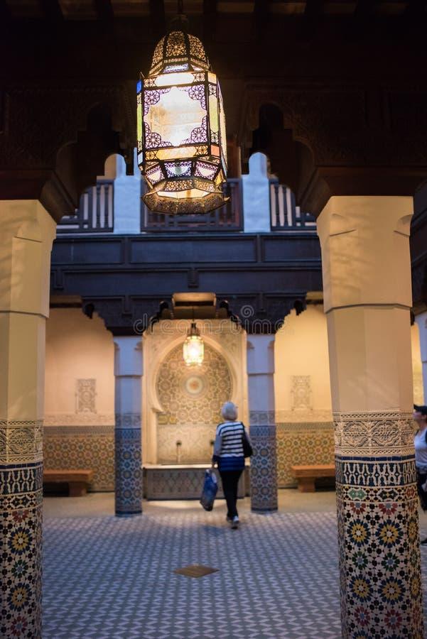 Het Paviljoen van Marokko in Epcot stock afbeeldingen