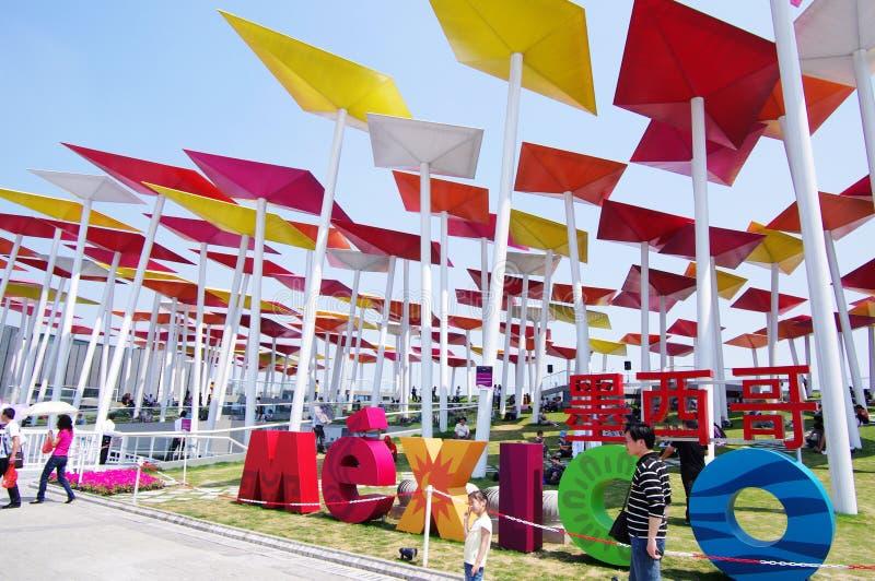 Het Paviljoen van Mexico in Expo2010 Shanghai China royalty-vrije stock fotografie